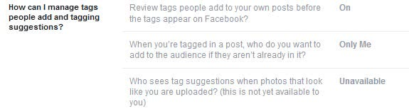 facebook photo tag suggestions