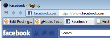 firefox address bar