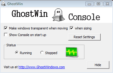 Promote Transparency on Your Desktop with GhostWin - gHacks Tech News