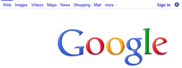 google white bar