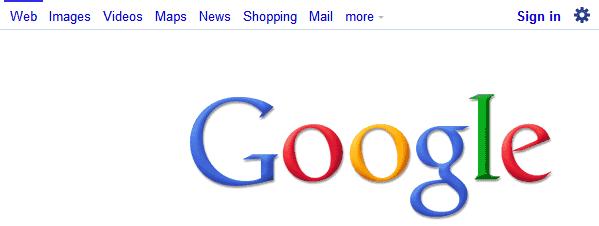 google white bar