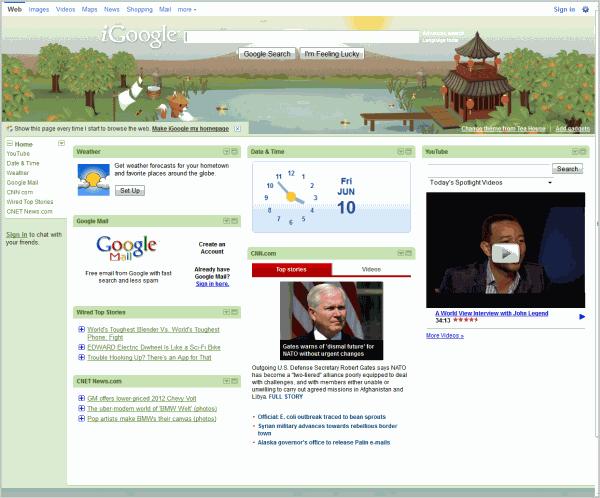 igoogle start-page