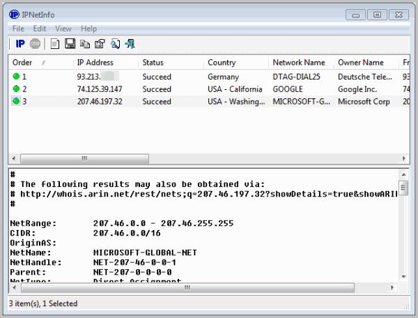 look-up ip address