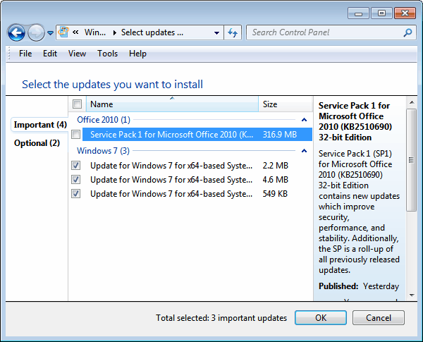 microsoft office 2010 sp1 update