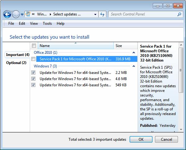 microsoft office 2010 sp1 update