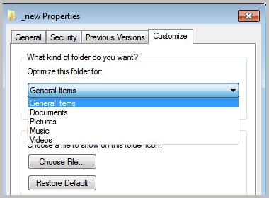 optimize folder for windows