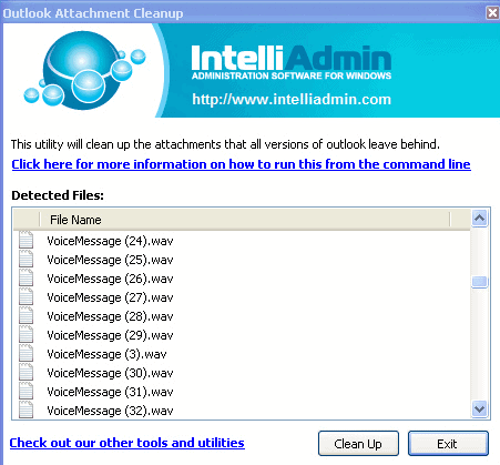 outlook attachment cleaner