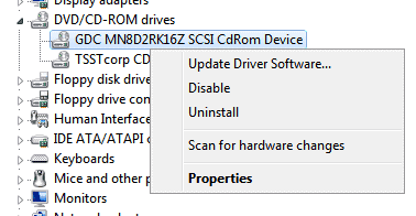 uninstall virtual drive