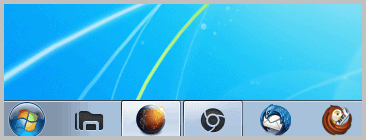 windows taskbar large icons