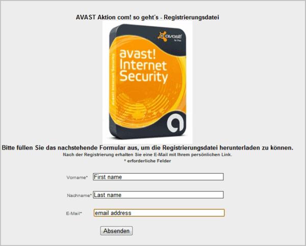 avast internet security license