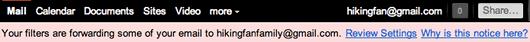 gmail mail forwarding