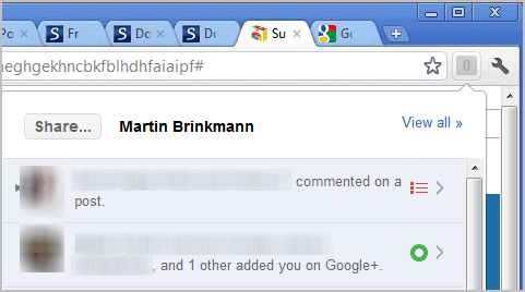 google+ extension