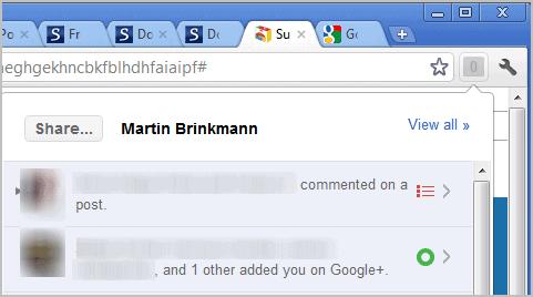 google+ extension