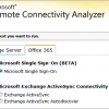 microsoft remote connectivity analyzer