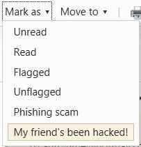 my friends been hacked