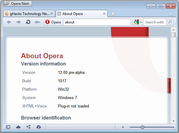 opera 12 screenshot
