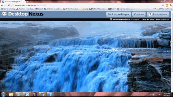 rotating desktop background