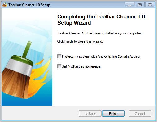 toolbar cleaner setup