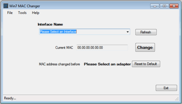 windows 7 mac address changer