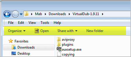 windows explorer toolbar