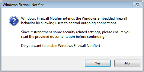 windows firewall notifier installation