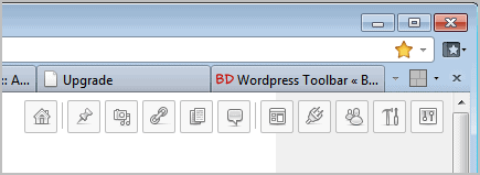 wordpress toolbar