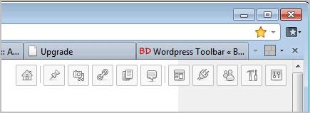 wordpress toolbar