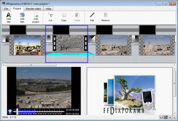 create movie ffdiaporama