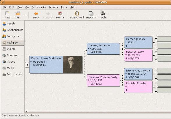 gramps free genealogy software