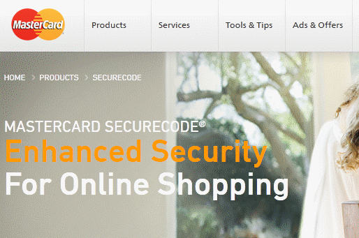 What is MasterCard's SecureCode used for?