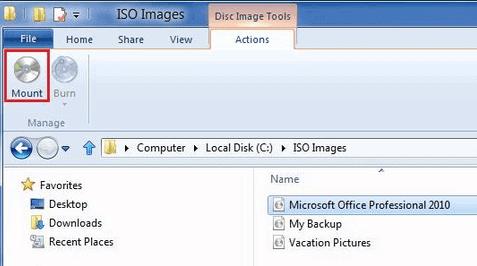 mount iso image