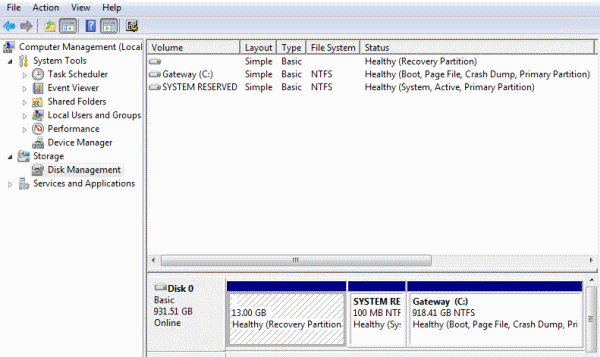partition hard-drive