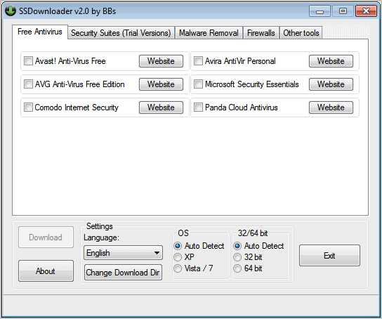 security software downloader