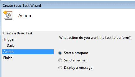 start a program