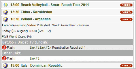 match listings that you can watch