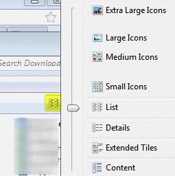windows explorer view modes
