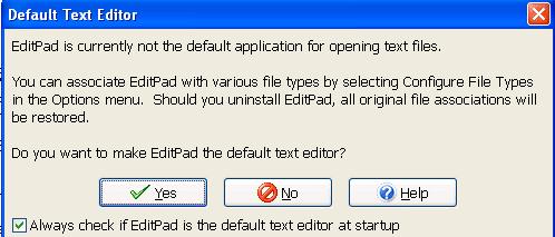 default text editor