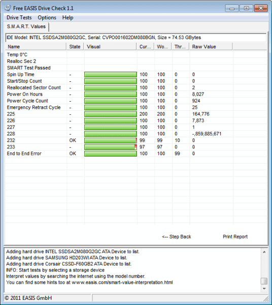 Windows 7 EASIS Drive Check 1.1 full