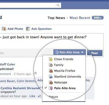публикация в фейсбуке в список