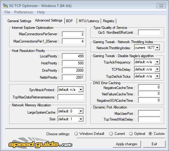 optimize internet connection