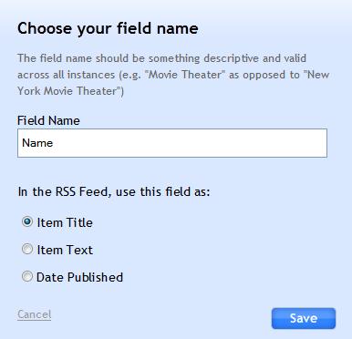 rss field