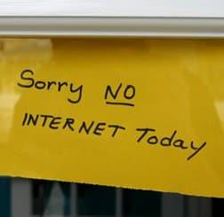 sorry no internet