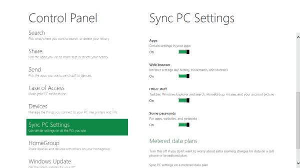 sync pc settings