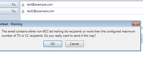 use bcc instead