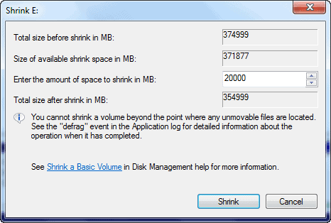 create disk partition