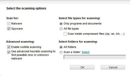 f-secure custom scan