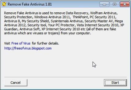 fake antivirus removal