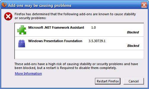 firefox blocklist