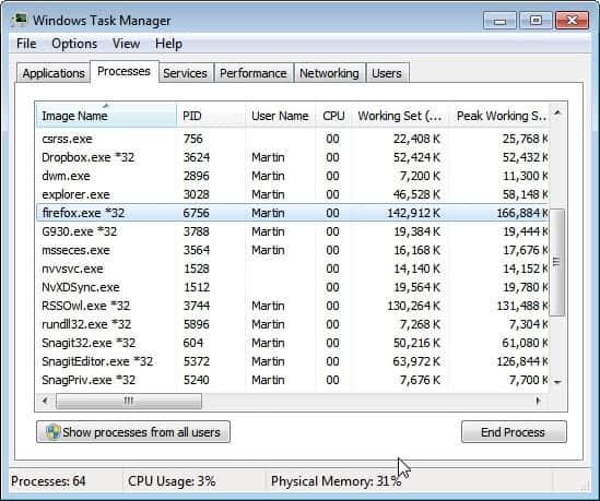 firefox memory usage