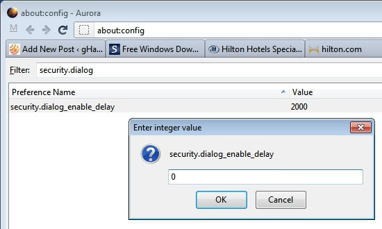 firefox security dialog enable delay